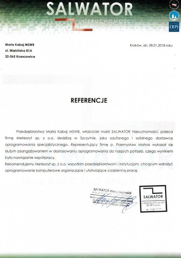 Referencje Salwator